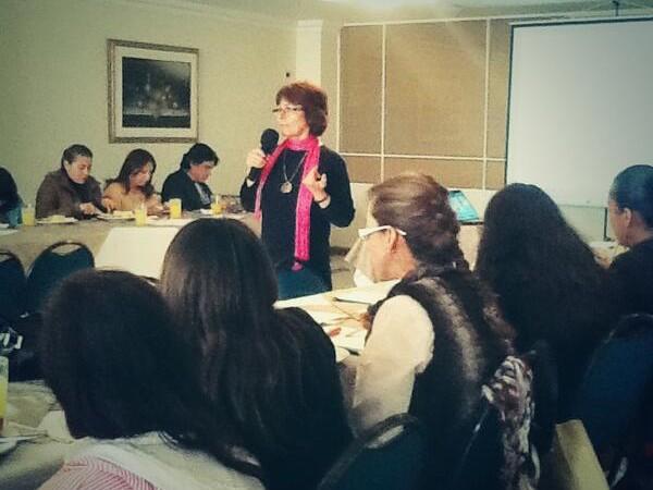 Fabiola Calvo Ocampo, Coordinadora de la Red Colombiana de periodistas con visión de género, proceso de capacitación y formación a periodistas de la red de  Tunja.