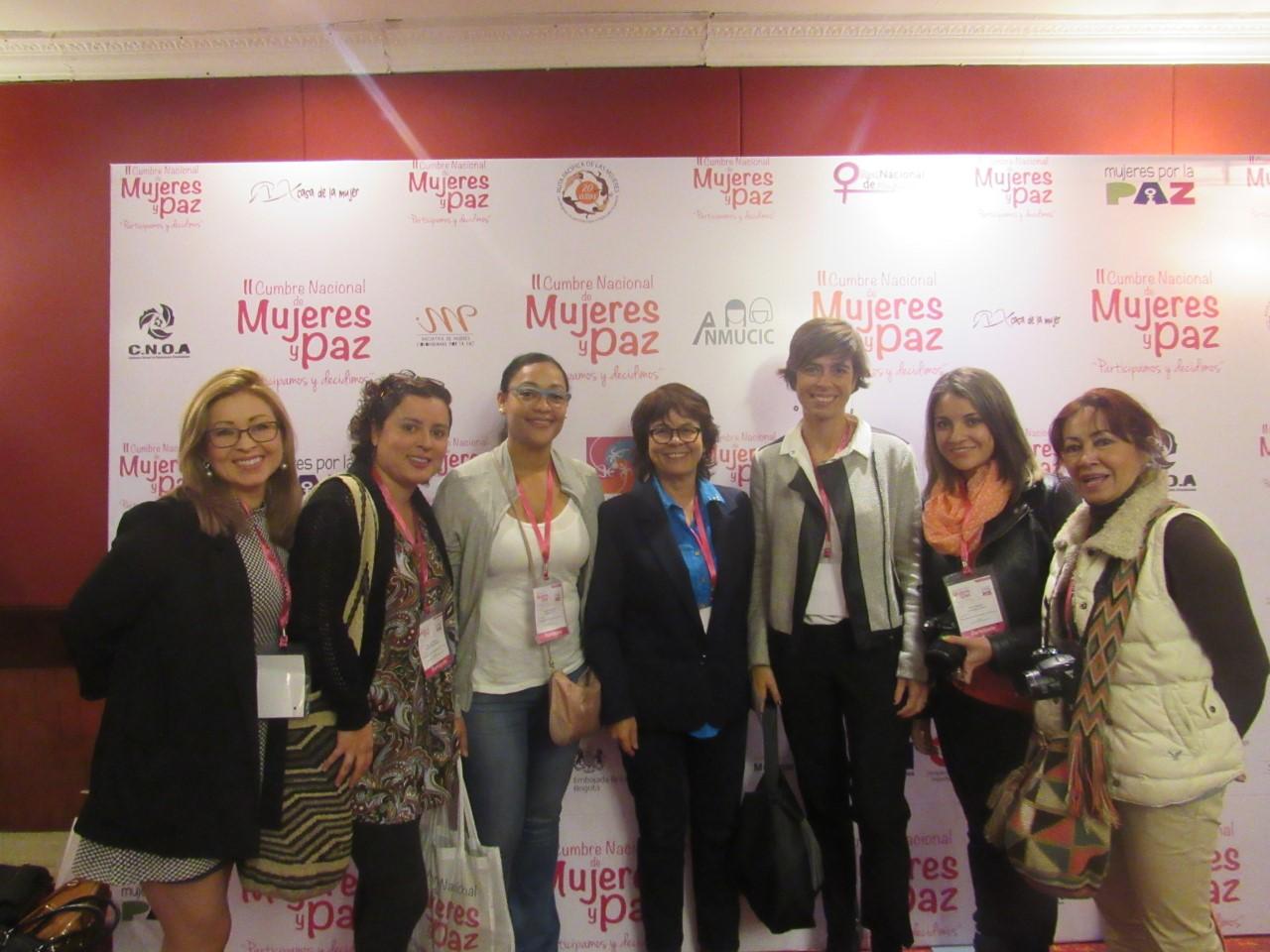 La red de periodistas con Visión de género, presente en la II cumbre nacional de mujeres y paz .