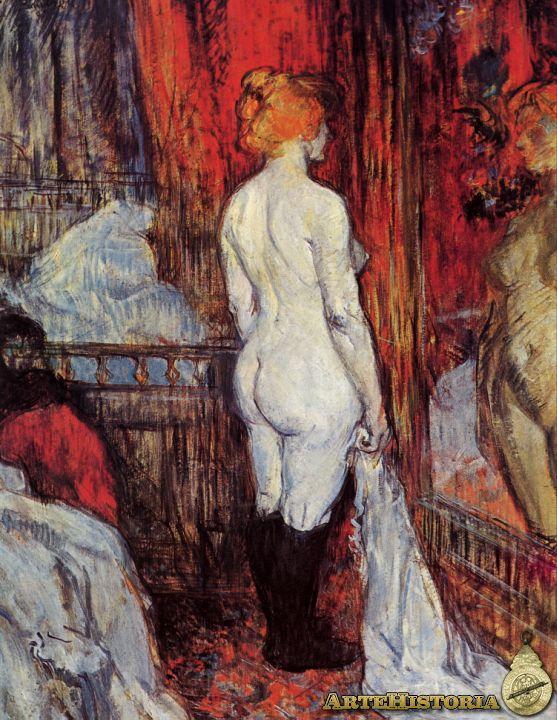Título: Desnudo femenino ante el espejo Año: 1987 Toulouse Lautrec