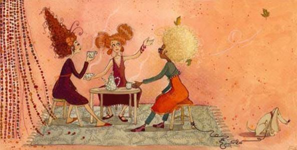 mujeres-reunidas-tomande-cafe